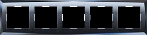 Рамка на 5 постов  (черный) WL08-Frame-05