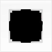 Рамка на 1 пост (белый матовый) WL01-Frame-01