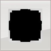 Рамка на 1 пост (дымчатый,стекло) WL01-Frame-01