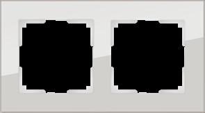 Рамка на 2 поста (дымчатый,стекло) WL01-Frame-02