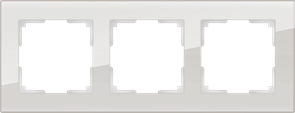 Рамка на 3 поста (дымчатый,стекло) WL01-Frame-03