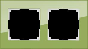 Рамка на 2 поста (фисташковый) WL01-Frame-02