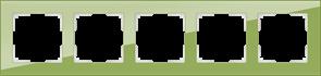 Рамка на 5 постов (фисташковый) WL01-Frame-05