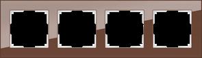 Рамка на 4 поста (мокко) WL01-Frame-04