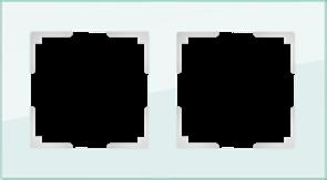 Рамка на 2 поста (натуральное стекло) WL01-Frame-02