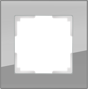 Рамка на 1 пост (серый,стекло) WL01-Frame-01