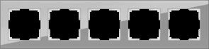 Рамка на 5 постов (серый,стекло) WL01-Frame-05
