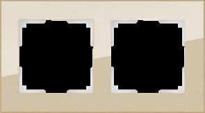 Рамка на 2 поста (шампань) WL01-Frame-02