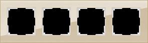 Рамка на 4 поста (шампань) W0041111
