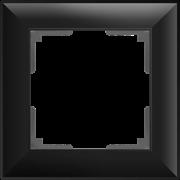 Рамка на 1 пост (черный матовый) WL14-Frame-01