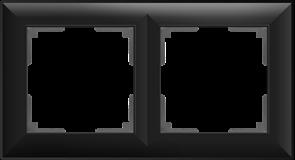Рамка на 2 поста (черный матовый) W0022208