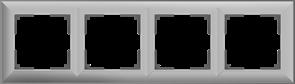 Рамка на 4 поста (серебряный) W0042206