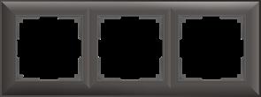 Рамка на 3 поста (серо-коричневый) WL14-Frame-03