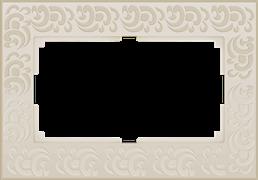 Рамка для двойной розетки (слоновая кость) WL05-Frame-01-DBL-ivory