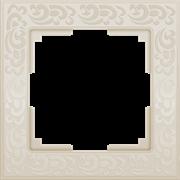 Рамка на 1 пост (слоновая кость) WL05-Frame-01-ivory