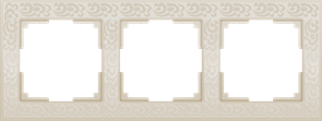 Рамка на 3 поста (слоновая кость) WL05-Frame-03-ivory