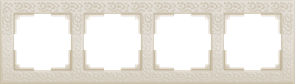 Рамка на 4 поста (слоновая кость) WL05-Frame-04-ivory