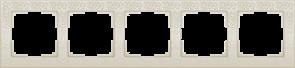 Рамка на 5 постов (слоновая кость) WL05-Frame-05-ivory
