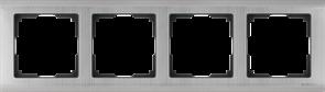Рамка на 4 поста (глянцевый никель) WL02-Frame-04