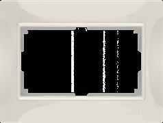 Рамка для двойной розетки (слоновая кость, basic) WL03-Frame-01-DBL-ivory