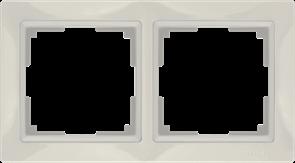 Рамка на 2 поста (слоновая кость, basic) WL03-Frame-02