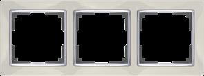 Рамка на 3 поста (слоновая кость) WL03-Frame-03-ivory
