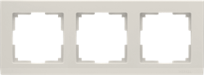 Рамка на 3 поста (слоновая кость) WL04-Frame-03-ivory