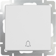 Кнопка звонка (белый) WL01-04-01