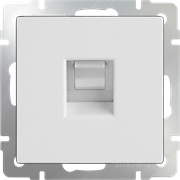 Телефонная розетка  RJ-11 (белая) WL01-RJ-11