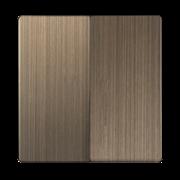 Набор клавиш для выключателя двухклавишного (бронзовый) WL12-SW-2G-CP