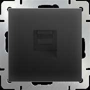 Розетка Ethernet RJ-45 (черный матовый) WL08-RJ-45