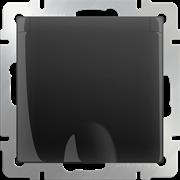 Розетка влагозащ. с зазем. с защит. крышкой и шторками  (черный матовый) WL08-SKGSC-01-IP44