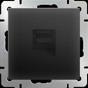 Телефонная розетка  RJ-11  (черный матовый) WL08-RJ-11