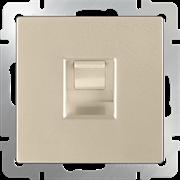 Розетка Ethernet RJ-45 (шампань) WL11-RJ-45