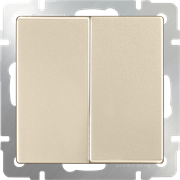 Выключатель двухклавишный проходной (шампань) WL11-SW-2G-2W