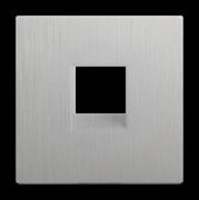 Накладка для RJ11 (серебряный рифленый) WL09-RJ-11-CP