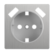 Накладка  для розетки USB (cеребряный рифленый) WL09-USB-CP