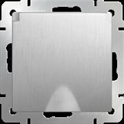 Розетка влагозащ. с зазем. с защит. крышкой и шторками (cеребряный рифленый) WL09-SKGSC-01-IP44