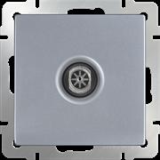 ТВ-розетка оконечная  (серебряный) WL06-TV