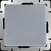 Выключатель одноклавишный проходной (серебряный) WL06-SW-1G-2W
