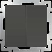 Выключатель двухклавишный (серо-коричневый) WL07-SW-2G