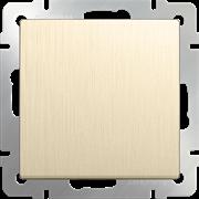 Выключатель одноклавишный проходной (шампань рифленый) WL10-SW-1G-2W