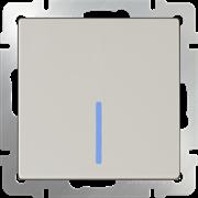 Выключатель одноклавишный проходной с подсветкой (слоновая кость) WL03-SW-1G-2W-LED-ivory