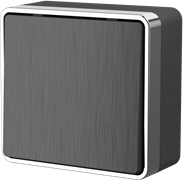 Выключатель одноклавишный проходной Gallant (графит рифленый) WL15-01-03