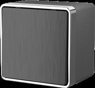 Выключатель одноклавишный влагозащищенный Gallant (графит рифленый) WL15-01-02