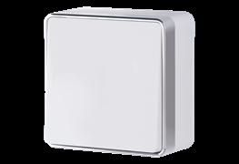 Выключатель одноклавишный проходной Gallant (белый) WL15-01-03