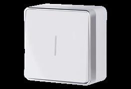 Выключатель одноклавишный с подсветкой Gallant (белый) WL15-01-04