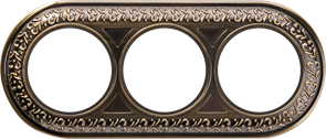 Рамка на 3 поста (бронза) WL70-frame-03