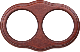 Рамка на 2 поста (итальянский орех) WL20-frame-02