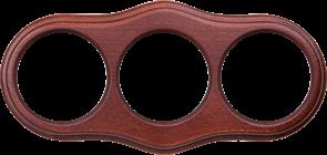 Рамка на 3 поста (итальянский орех) WL20-frame-03